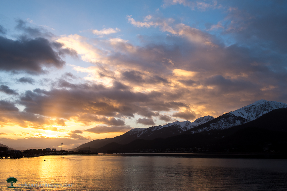 Juneau Alaska Winter Sunrise