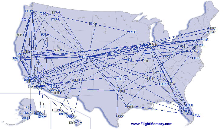 Flightmemory Map: End of 2016
