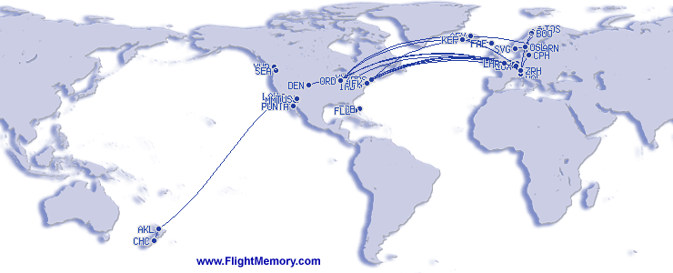 Flightmemory Map: World Map End of 2016